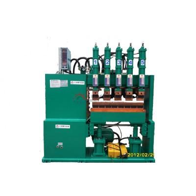 1米半龍門焊機 橫向式上下氣缸150KVA 5頭電阻排焊機