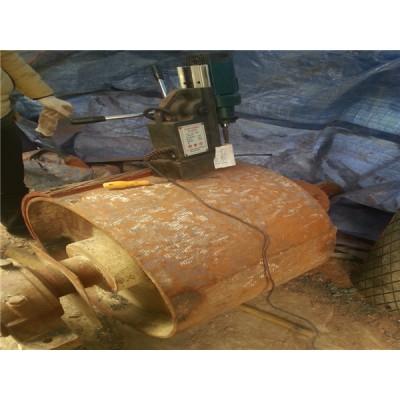 滾筒包膠/水泥廠提升機滾筒現場包膠