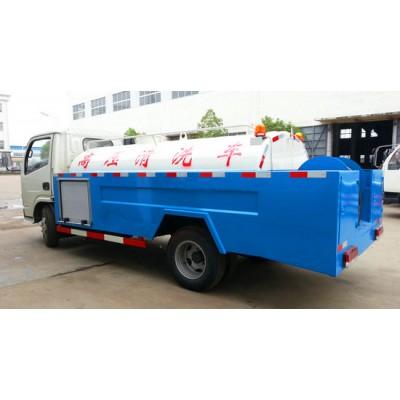 东风多利卡高压清洗车(蓝白色)-吸污车