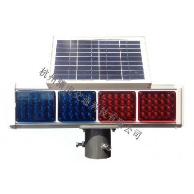 太阳能爆闪灯 太阳能警示灯 led双面警示灯生产厂家