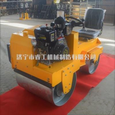 小型單鋼輪壓土機微型手扶式雙鋼輪壓路機廠