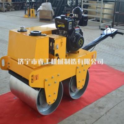 山西微型振动单钢轮压土机载人式小型双轮压