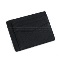 十字紋真皮卡包 超薄銀行卡包