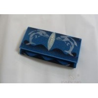 法彭珍珠鱼皮银包