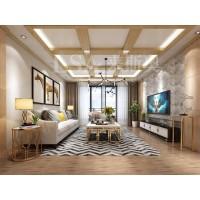 橡木紋現代客廳-集成吊頂