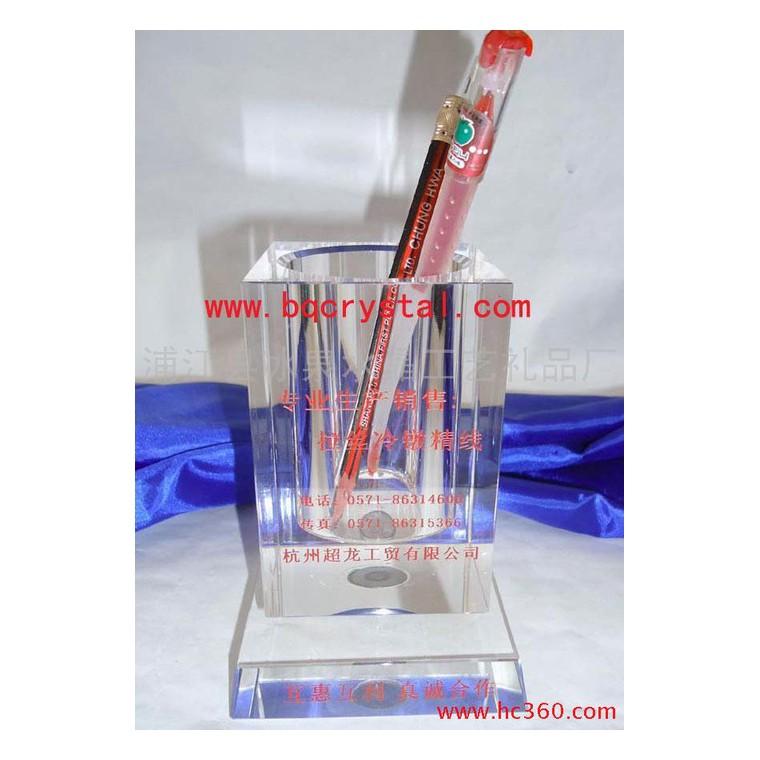 供應水晶筆筒 水晶旋轉筆筒 可刻字上色 桌上擺件 辦公用品