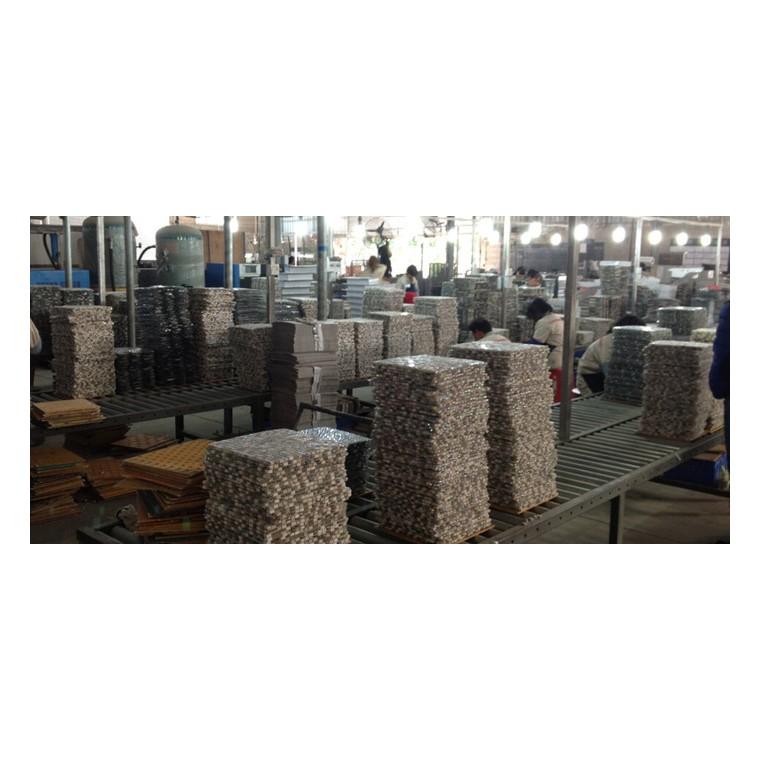 [柯翰陶瓷]古老船木馬賽克回字形大方塊建材裝修家裝建材瓷磚內墻磚DQ-SN51