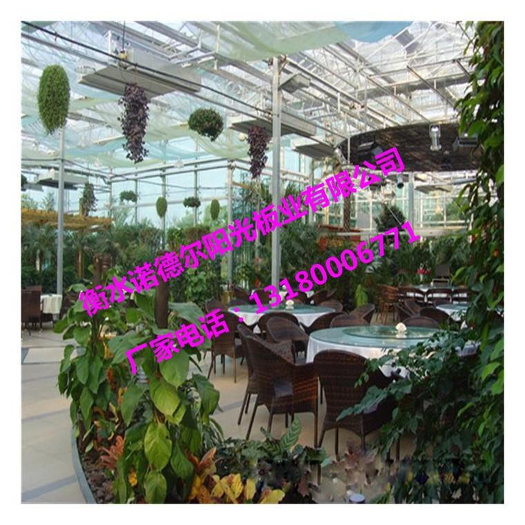 花卉餐廳頂棚、PC板材覆蓋、綠色環保建材