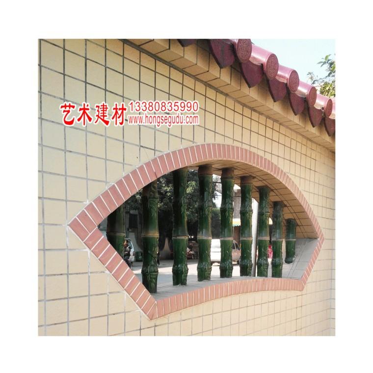 佛山園林藝術建材 樓臺庭院圍墻陶瓷花窗 古建建材