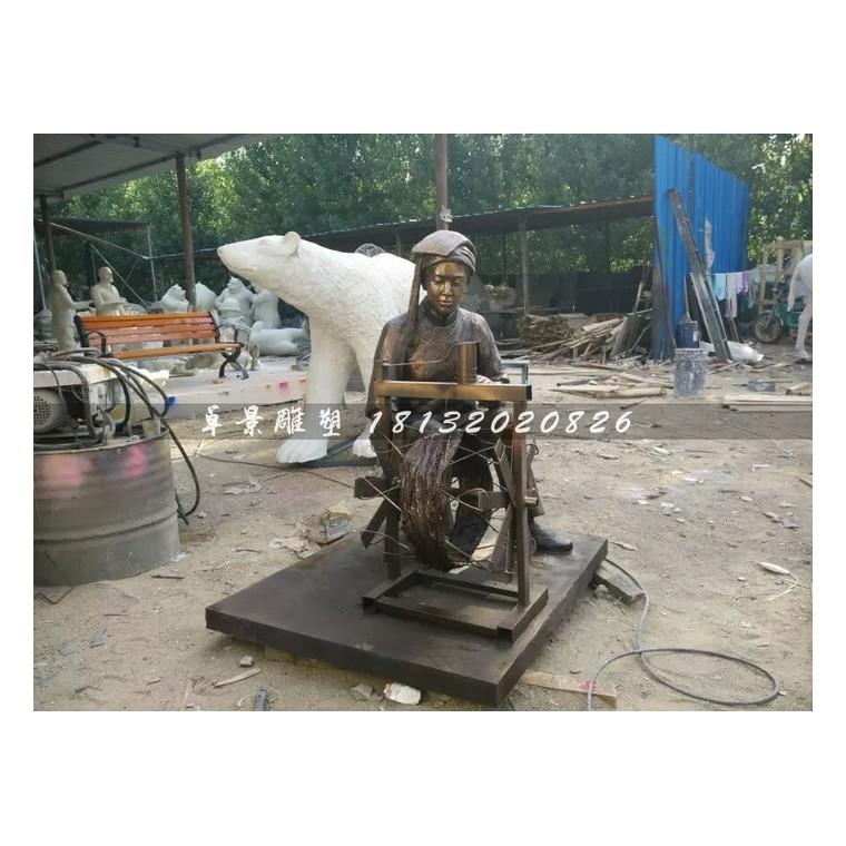 纺织玻璃钢雕塑,仿铜纺织雕塑,广场景观雕塑 (2)