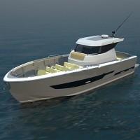 10m簡易版釣魚艇-玻璃鋼游艇