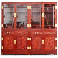 雕龍書柜(紅木家具)
