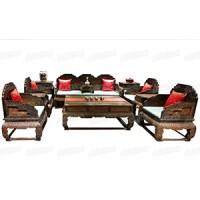 荷花寶座沙發(紅木家具)