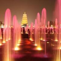 彩色噴火噴泉