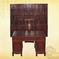 1.5m寫字臺書柜,紅木家具