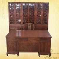 2.8m寫字臺書柜,紅木家具
