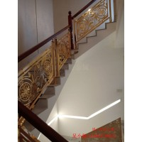 孝義鋁板雕刻樓梯 全鋁藝術高檔樓梯護欄使用