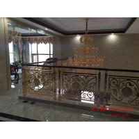 拉絲古銅樓梯護欄 鋁板雕刻護欄耐看質優