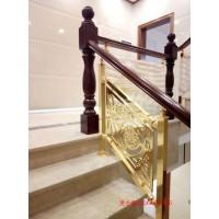 曲周鋁板金屬樓梯護欄 雕刻歐式花樓梯護欄圖片