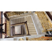 徐州銅樓梯 銅樓梯扶手可定制不同雕刻花式