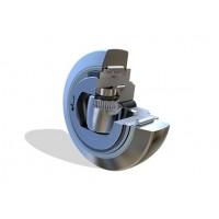 螺钉可调节复合滚轮