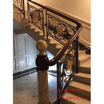 沙洋鋁樓梯護欄 藝術雕刻樓梯中式批發款式