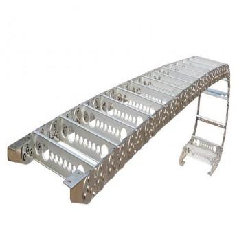 直销钢制拖链全封闭铝型拖链金属机床坦克链电缆线保护线链条