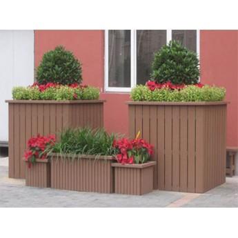 戶外優質木塑花箱,塑木工程園藝花箱,鄭州室外道路移動花箱組合