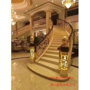 銅樓梯扶手 別墅樓梯扶手構件設計