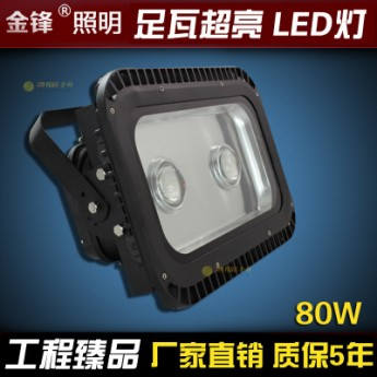 LED隧道燈戶外防水射燈藍球場操場工廠投光燈廣場照明燈