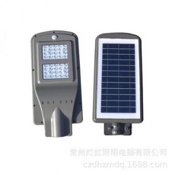 太陽能路燈一體化LED路燈頭道路小區感應太陽能庭院燈