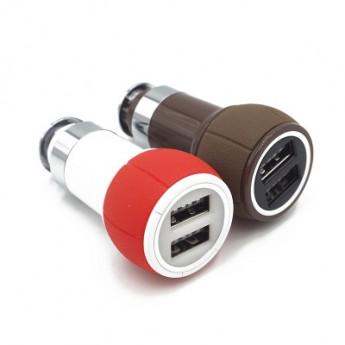 廠家直銷 汽車車載充電器 雙USB 車載點煙器插頭帶安全錘