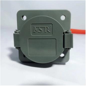 电动汽车交流充电防水车端插座 新国标充电插座