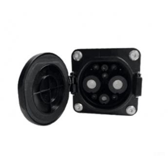 250A新能源电动汽车直流充电防水新国标车端插座