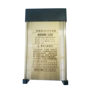 防雨电源 户外防雨型电源12V400W电源 招牌广告专用电源