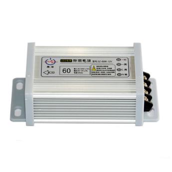 60W12V铝型材LED防雨电源 灯带模组发光字监控开关电源