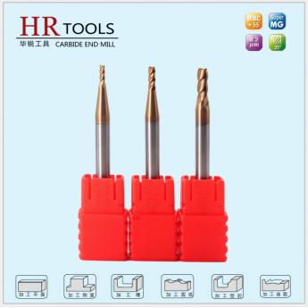 HRC55°度涂層四刃平底鎢鋼銑刀