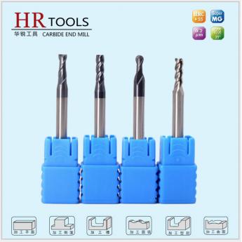 HRC45°度涂層四刃平底鎢鋼銑刀