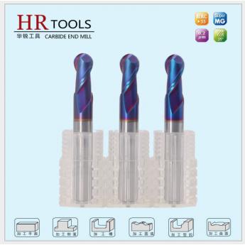 硬質合金HRC60°度四刃兩刃鎢鋼球頭銑刀