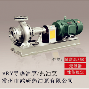 WRY熱油泵武研高溫導熱油泵