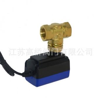 768电动两通阀 水处理工程机械设备阀门电磁阀 电动两通铜阀