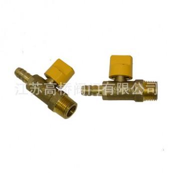 R12002黄铜外直嘴自动切断球阀 行业设备切断球阀 阀门