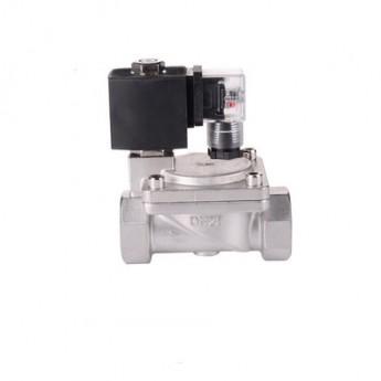 不銹鋼電磁閥常閉304水閥氣閥DN401.5寸高壓先導電磁閥