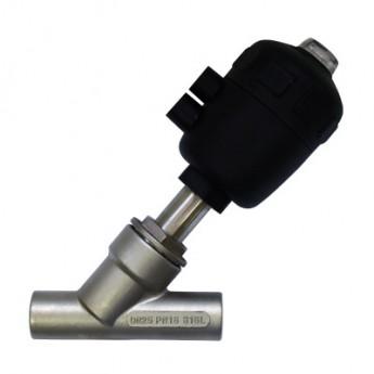 厂家直销印染控温冲洗气动调节阀不锈钢焊接式角座阀 不锈钢阀门