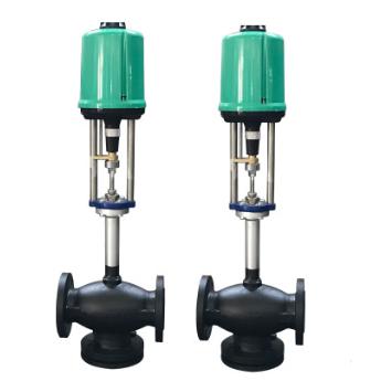 直銷電動導熱油閥門dn50 導熱油專用鑄鋼三通閥門可附溫控表