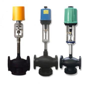 ZDLP單向柱塞式三通電動導調節閥 烘房導熱油蒸汽調節閥