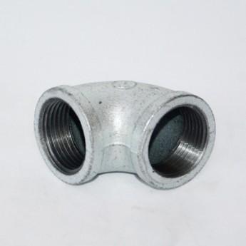 批發建支內絲90度彎頭鍍鋅瑪鋼消防管件熱鍍鋅燃氣用水暖鐵彎頭
