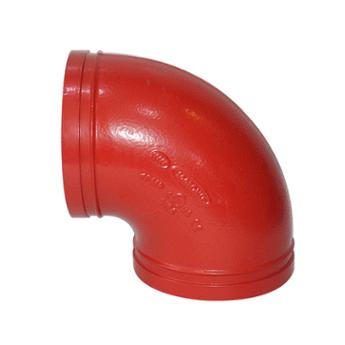 批發億佰通90°卡箍彎頭 消防溝槽管件 卡箍球墨鑄鐵彎頭