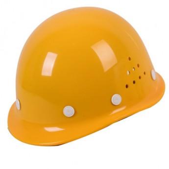 安全帽 名盾厂家直销耐高温玻璃钢型头盔 国标透气工地防砸帽