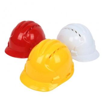 明盾高強度三筋ABS安全帽電力電工防砸領導佩戴透氣工地頭盔